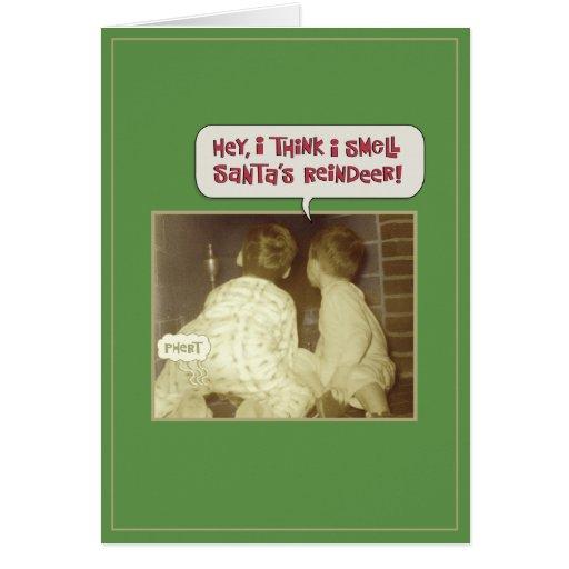 Olor divertido del navidad tarjeta de felicitación