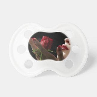 Olor divino del rosa rojo del amorío amor deseo chupetes para bebes