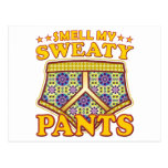 Olor sudoroso de los pantalones postal