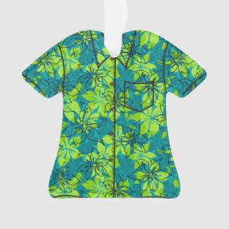 Olowalu Hibiscus Hawaiian Camo Aloha Shirt Ornament