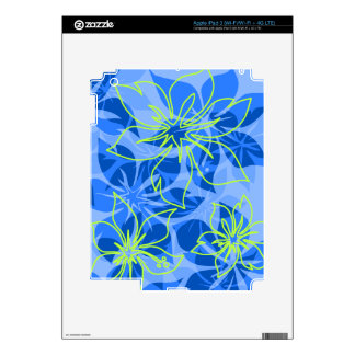 Olowalu Hibiscus Hawaiian iPad 3 or Tablet Skin Decals For iPad 3