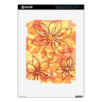 Olowalu Hibiscus Hawaiian iPad 3 or Tablet Skin iPad 3 Decal