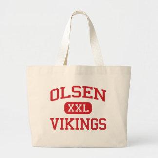 Olsen - Vikings - Middle School - Dania Florida Jumbo Tote Bag