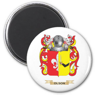 Olson Coat of Arms (Family Crest) 2 Inch Round Magnet