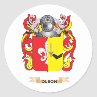 Olson Coat of Arms (Family Crest) Sticker