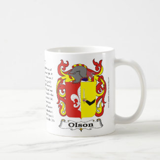 Olson Family Coat of Arms Mug