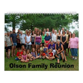 Olson Reunion 2012 Calendar