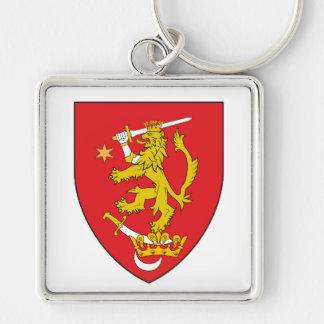 oltenia historic romania armorial chevron symbol l keychain