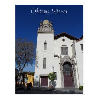 Olvera Street Church- Los Angeles Postcard