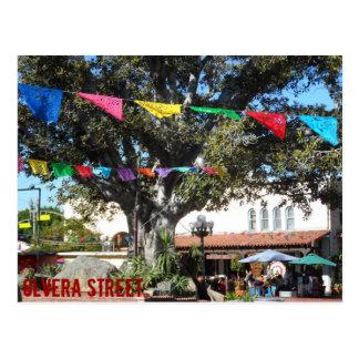 Olvera Street- Los Angeles Postcard
