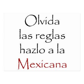 Olvida Las Reglas Hazlo A La Mexicana Postcard