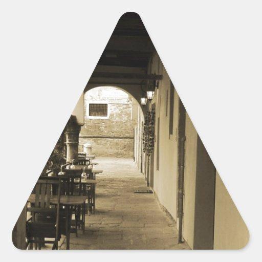 Olvidado Pegatina Triangular