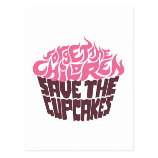Olvide a los niños - rosa+Chocolate oscuro Tarjeta Postal