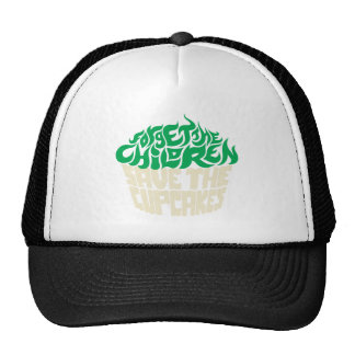 Olvide a los niños - verde+Beigh Gorras De Camionero