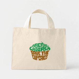 Olvide a los niños - verde+Chocolate Bolsa Tela Pequeña