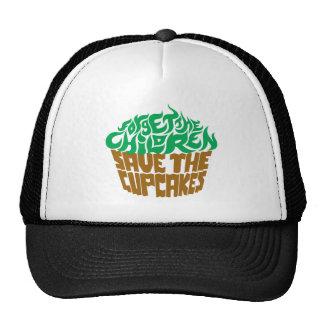 Olvide a los niños - verde+Chocolate Gorras