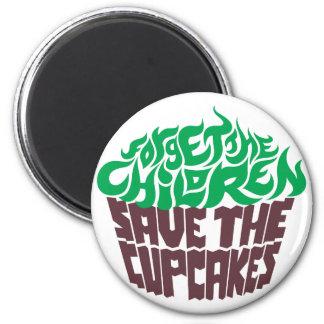 Olvide a los niños - verde+Chocolate oscuro Imán Redondo 5 Cm