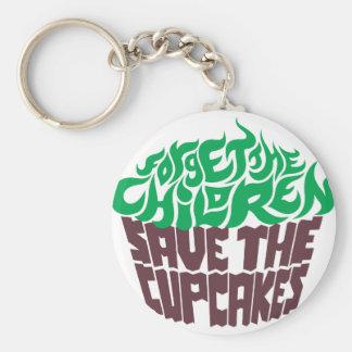 Olvide a los niños - verde+Chocolate oscuro Llavero Redondo Tipo Pin