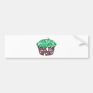 Olvide a los niños - verde+Chocolate oscuro Pegatina Para Auto