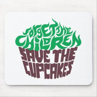 Olvide a los niños - verde+Chocolate oscuro Tapetes De Ratón