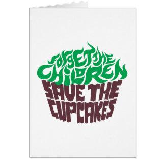 Olvide a los niños - verde+Chocolate oscuro Felicitacion