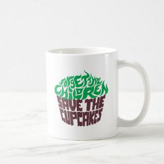 Olvide a los niños - verde+Chocolate oscuro Taza Clásica
