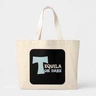 Olvide la verdad que quiero tequila bolsa tela grande