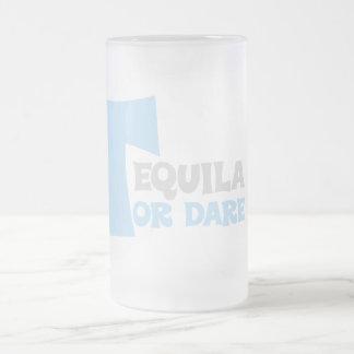 Olvide la verdad que quiero tequila taza de cristal