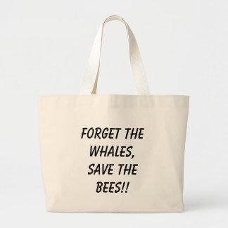¡Olvide las ballenas, ahorre las abejas!! Bolsa De Mano