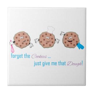 Olvide las galletas azulejo cuadrado pequeño