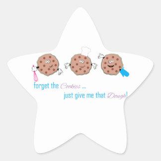 Olvide las galletas pegatina en forma de estrella
