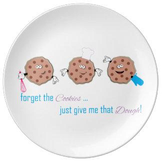 Olvide las galletas plato de cerámica