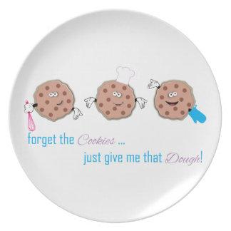 Olvide las galletas platos de comidas