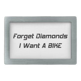 Olvide los diamantes que quiero una bici