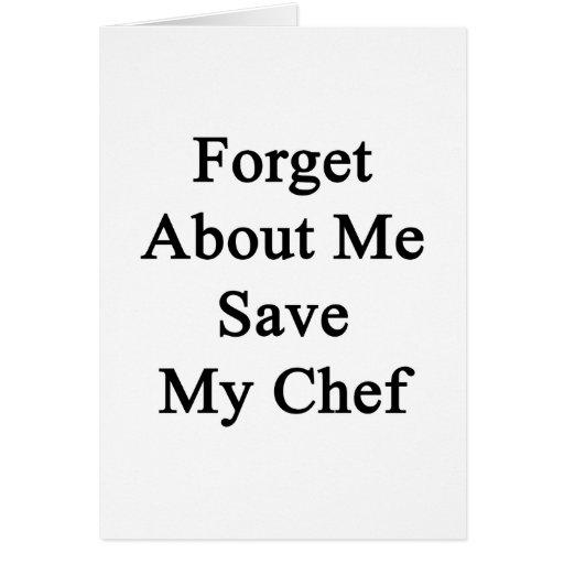 Olvide mí la reserva mi cocinero tarjeta