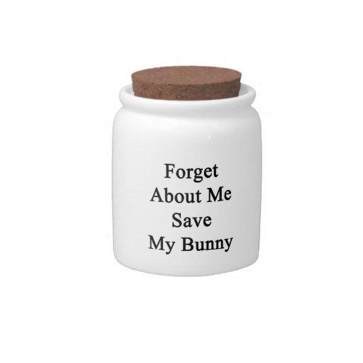 Olvide mí la reserva mi conejito jarra para caramelo