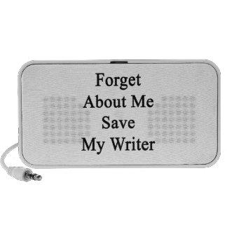 Olvide mí la reserva mi escritor PC altavoces