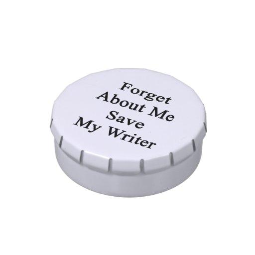 Olvide mí la reserva mi escritor latas de caramelos