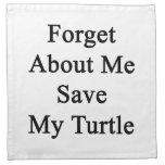 Olvide mí la reserva mi tortuga servilleta de papel