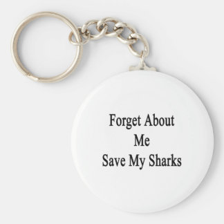 Olvide mí la reserva mis tiburones llavero
