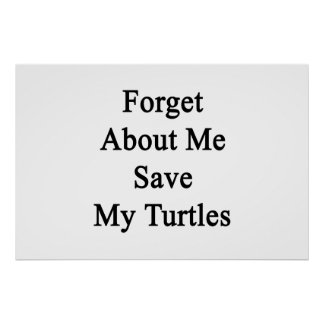 Olvide mí la reserva mis tortugas poster