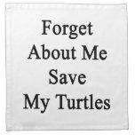 Olvide mí la reserva mis tortugas servilletas de papel