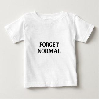 Olvide normal playera de bebé