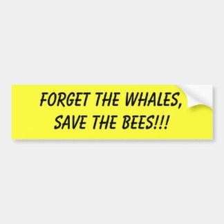 olvide que las ballenas ahorran a la pegatina para pegatina para auto