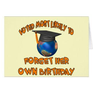 Olvide su cumpleaños tarjeta de felicitación