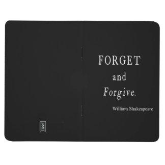 Olvide y perdone la cita personalizada de cuadernos