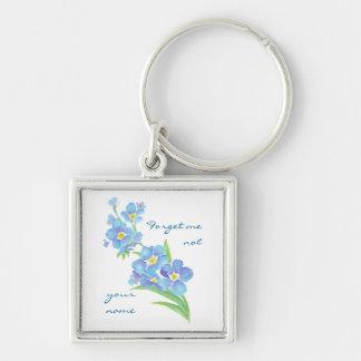Olvídeme flor no de encargo del jardín de la acuar llavero personalizado