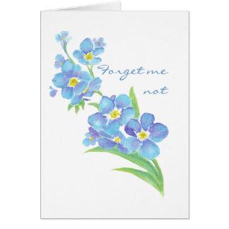 Olvídeme flor no de encargo del jardín de la acuar felicitación
