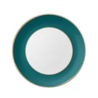 Olvídeme no azul en un jardín inglés del país platos de cerámica