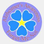 Olvídeme no el pegatina de Alzheimer